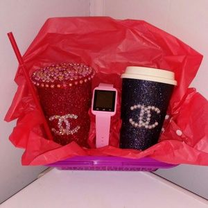 Accessories - Custom Tumbler Coffee Cup and Smart Watch Giftset
